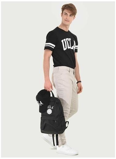UCLA Ucla Siyah Baskılı Erkek T-Shirt Siyah
